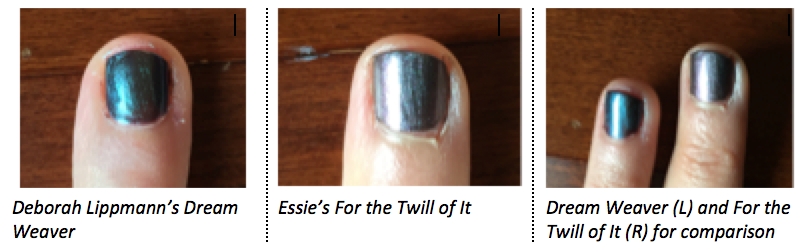 Gothic Mermaid Nails, Anyone? – Deborah Lippmann Dream Weaver and Essie For the Twill of It
